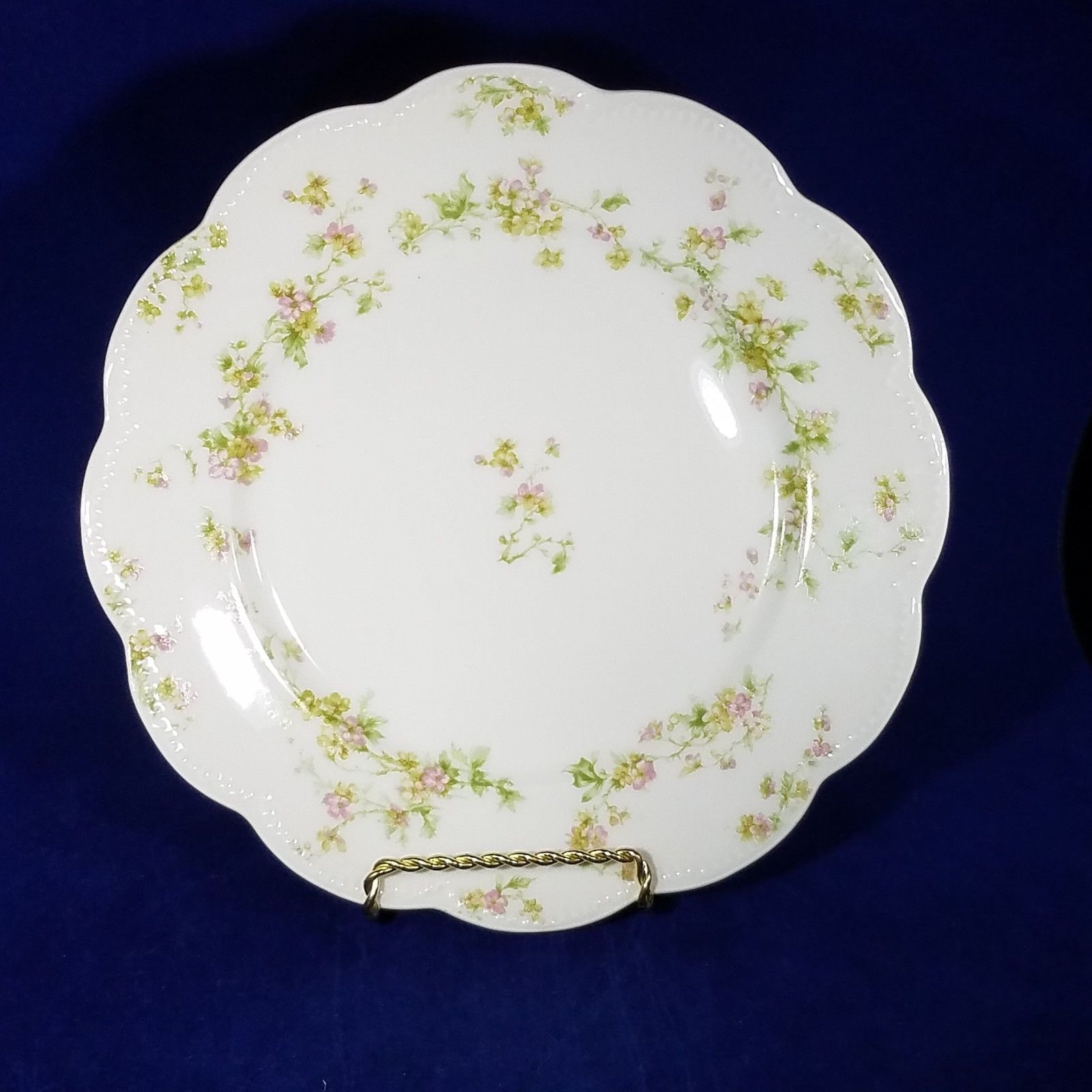 Haviland Limoges Schleiger 74a Luncheon Plate 8 12 Pink Green